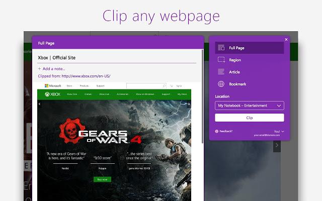 OneNote Web Clipper图片