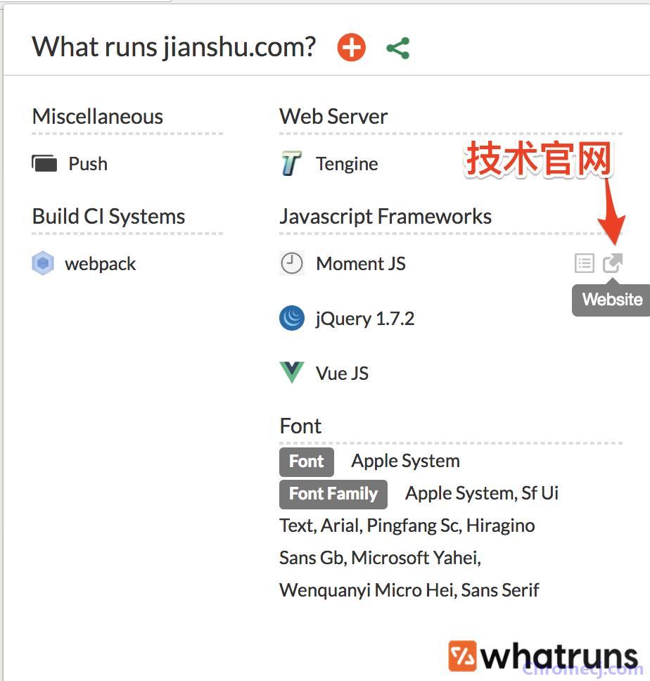 Whatruns插件应用二:详细了解相关技术