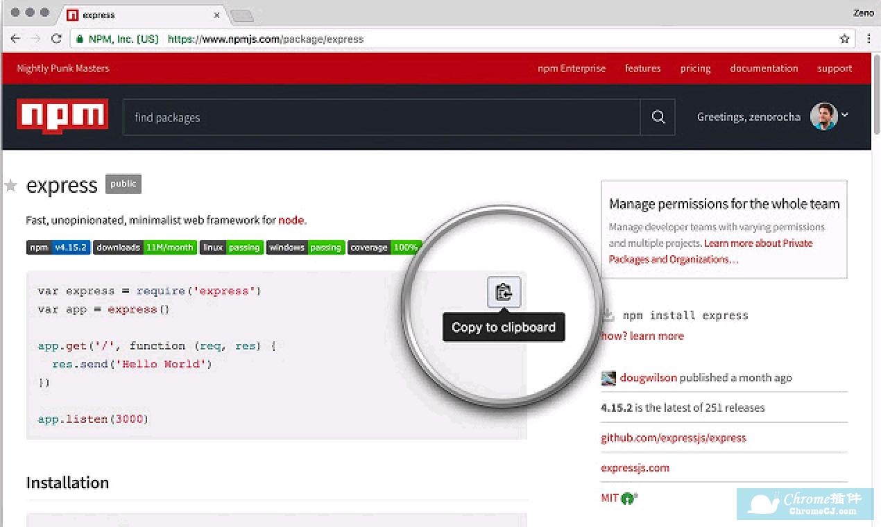 CodeCopy简介:在NPM上的应用