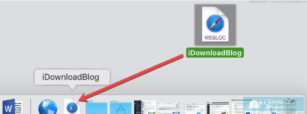 教你如何在 Mac 上的 Dock 上添加网站快捷方式
