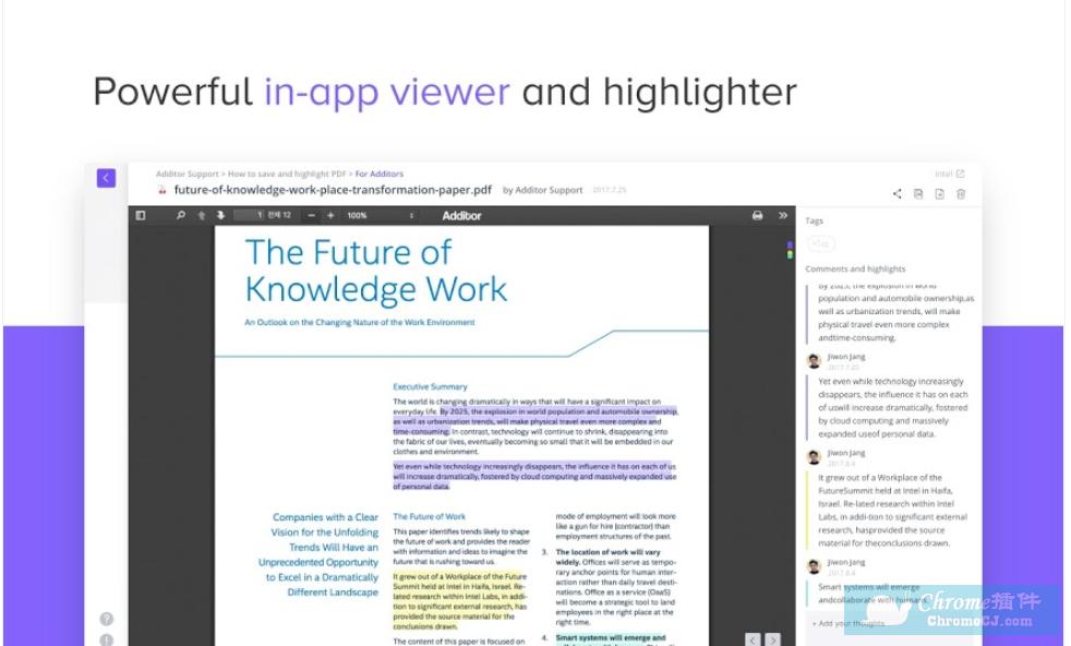 Additor - The Simplest Bookmark & Highlighter插件使用方法